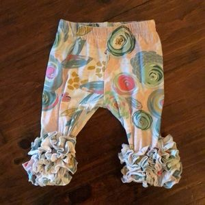 Other - Floral ruffle leggings